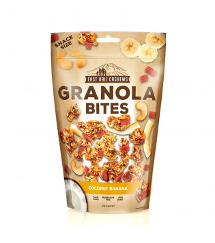 EAST BALI CASHEWS GRANOLA BITES COCONUT BANANA 125 G