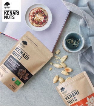 EAST FOREST KENARI NUTS CACAO CINNAMON 80 G