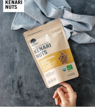 EAST FOREST KENARI NUTS SPICY SALTED CARAMEL 80 G