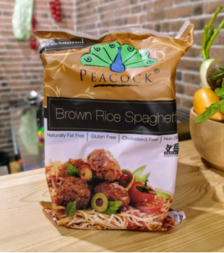 PEACOCK BROWN RICE SPAGHETTI 200 G