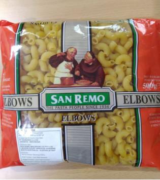 SAN REMO ELBOWS PASTA 500 G